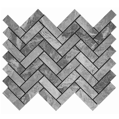 Herringbone 3 x 1 Mosaic Tile in Gray