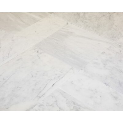 6 x 12 Marble Field Tile in Carrara