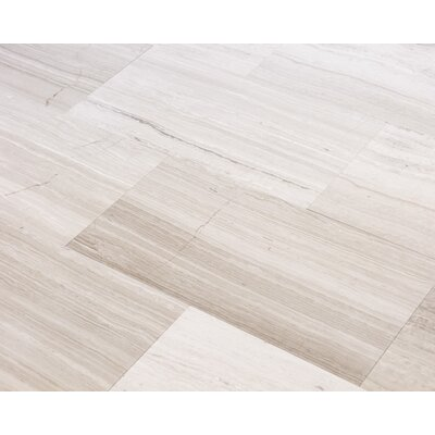 Wooden White 6 x 12 Marble Wood-Look Tile in Gray
