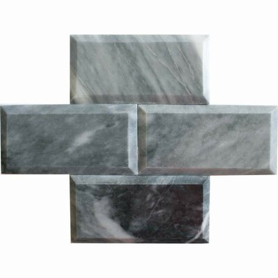 3 x 6 Marble Mosaic Tile in Bardiglio