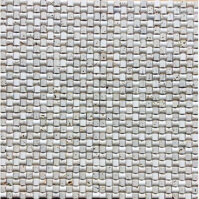 Leste 12 x 12 Natural Stone Mosaic Tile in Ivory