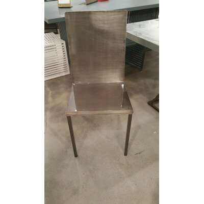 Alif Side Chair Finish: Natural Steel
