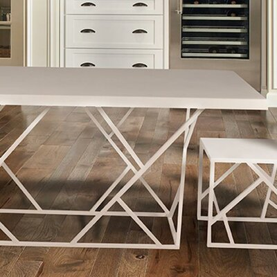 Criss Cross Dining Table Finish: Natural Steel, Size: Small