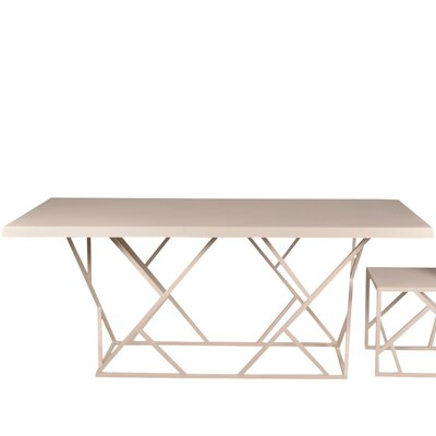 Criss Cross Dining Table Finish: White, Size: Small