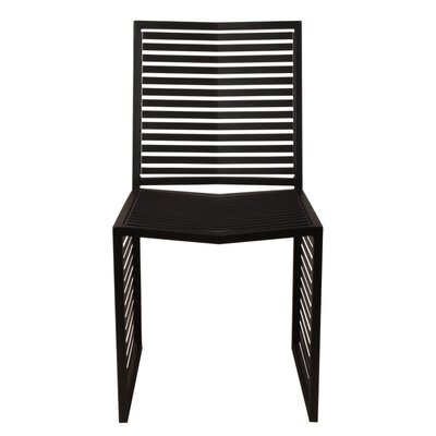 Vent Side Chair Finish: Black