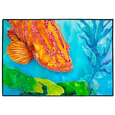 Grouper in the Green Indoor/Outdoor Floor Mat