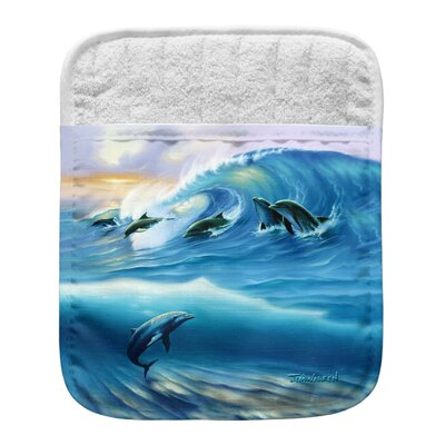 Surfing Dolphins Pocket Mitt Potholder 006-JW004