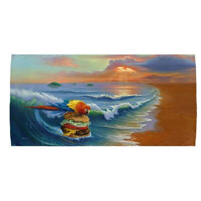 Cheeseburger in Paradise Beach Towel