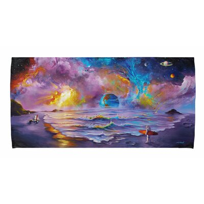 Surfing Astronaut Beach Towel