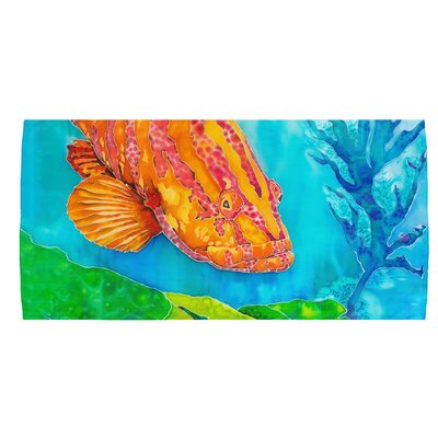 Grouper in the Green Beach Towel