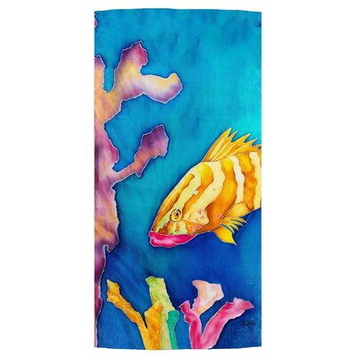 Tropical Reef Fish Beach Towel