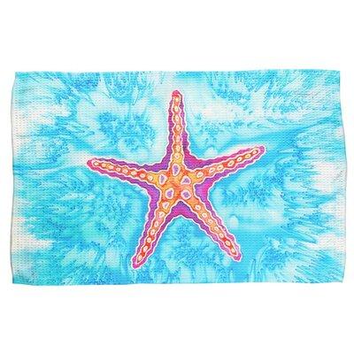 Starfish Waffle Weave Hand Towel