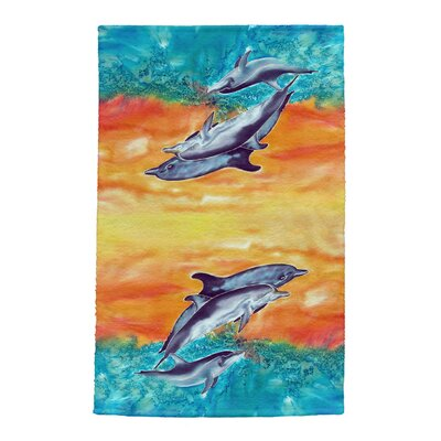 Dolphins Full Face Hand Towel