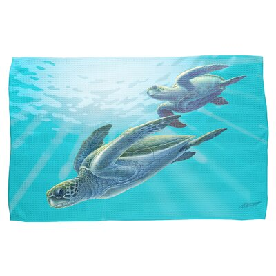 Sea Turtles Waffle Weave Hand Towel