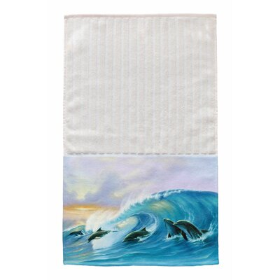 Surfing Dolphins Multi Face Hand Towel