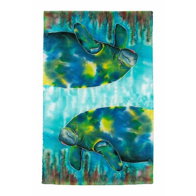 Mo the Manatee Full Face Hand Towel