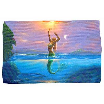 Mermaid Waffle Weave Hand Towel
