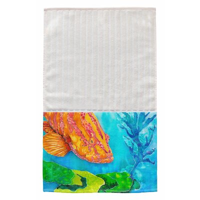 Grouper in the Green Multi Face Hand Towel