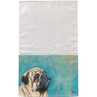 Pug Multi Face Hand Towel
