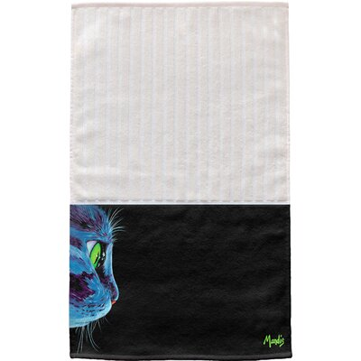 Green-Eyed Cat Multi Face Hand Towel