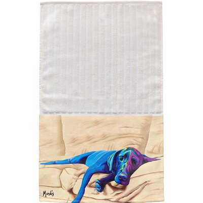 Chocolate Lab Multi Face Hand Towel