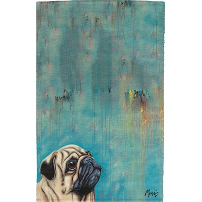 Pug Full Face Hand Towel