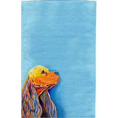 Cocker Spaniel Full Face Hand Towel