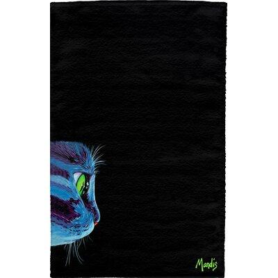 Green-Eyed Cat Full Face Hand Towel