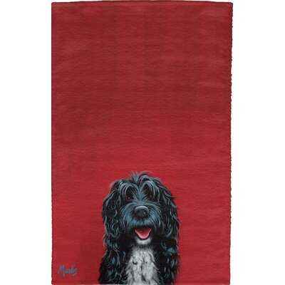 Portuguese Water Dog Full Face Hand Towel