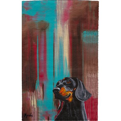Dachshund Full Face Hand Towel
