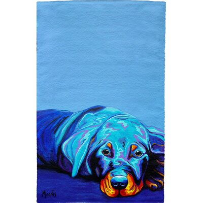 Rottweiler Full Face Hand Towel