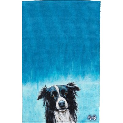 Border Collie Full Face Hand Towel