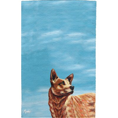 Texas Cattle Dog Full Face Hand Towel