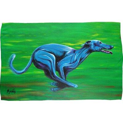 Greyhound Waffle Weave Hand Towel