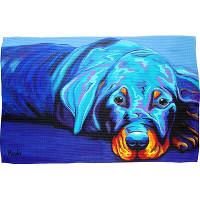 Rottweiler Waffle Weave Hand Towel