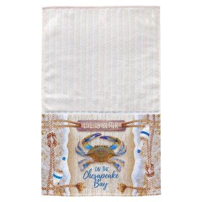 Chesapeake Crab Bouy Multi Face Hand Towel