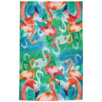 Daytona Flamingos Full Face Hand Towel