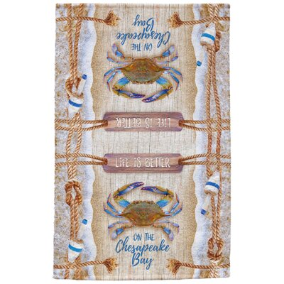 Rod Chesapeake Crab Bouy Full Face Hand Towel