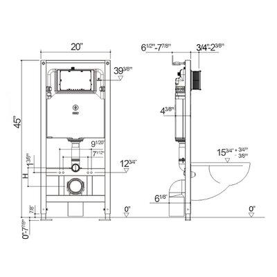 Nebula Concealed 1.6 GPF Toilet Tank