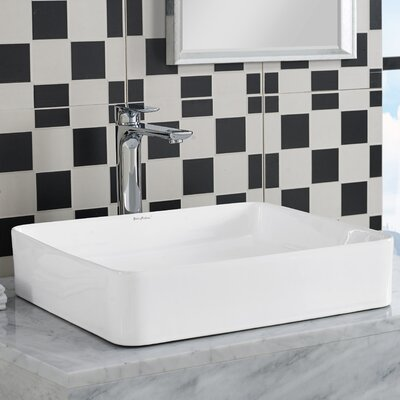Plaisir� Slender Rectangular Vessel Bathroom Sink
