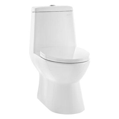Sublime 1.28 GPF Dual Flush Elongated One-Piece Toilet