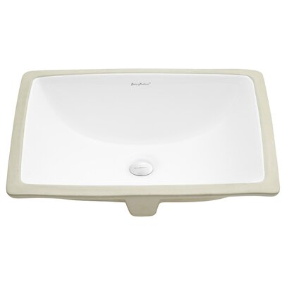 Plaisir� Ceramic Rectangular Undermount Bathroom Sink with Overflow