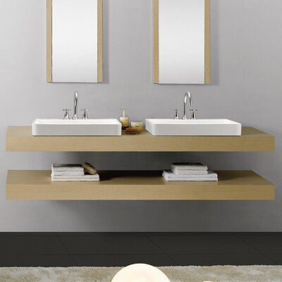 Plaisir� Rectangular Vessel Bathroom Sink