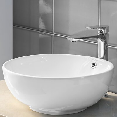 Plaisir� Ceramic Circular Vessel Bathroom Sink with Overflow