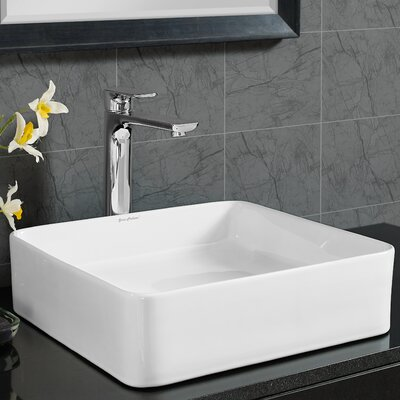 Plaisir� Slender Square Vessel Bathroom Sink