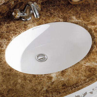 Plaisir� Oval Undermount Bathroom Sink with Overflow