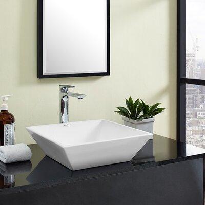 Plaisir� Ceramic Square Vessel Bathroom Sink