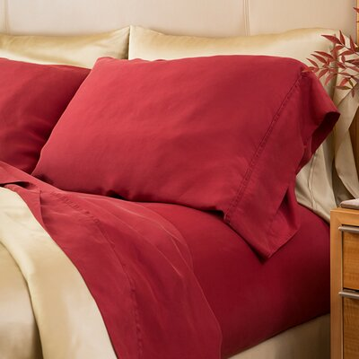 Matte Silk Sheet Set Size: California King, Color: Wine