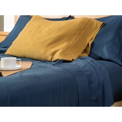 Matte Silk Pillow Case Size: Full/Queen, Color: Gold