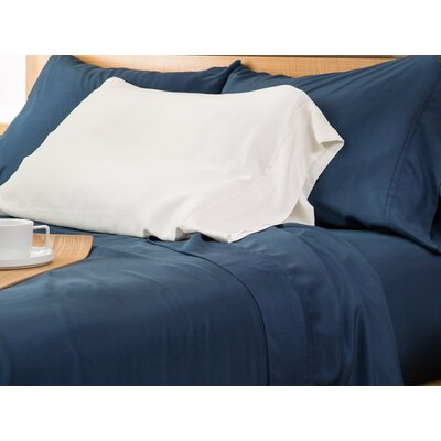 Matte Silk Pillow Case Color: Ivory, Size: King/California King